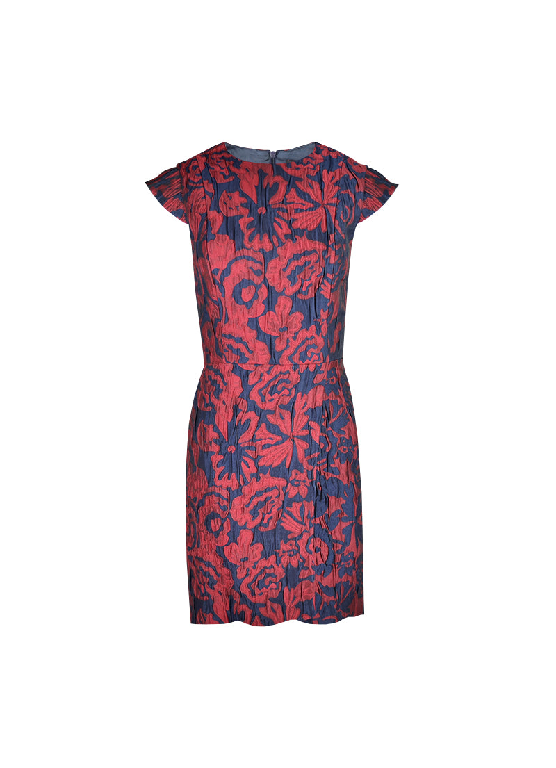 Jacquard Wrap Woman Dress