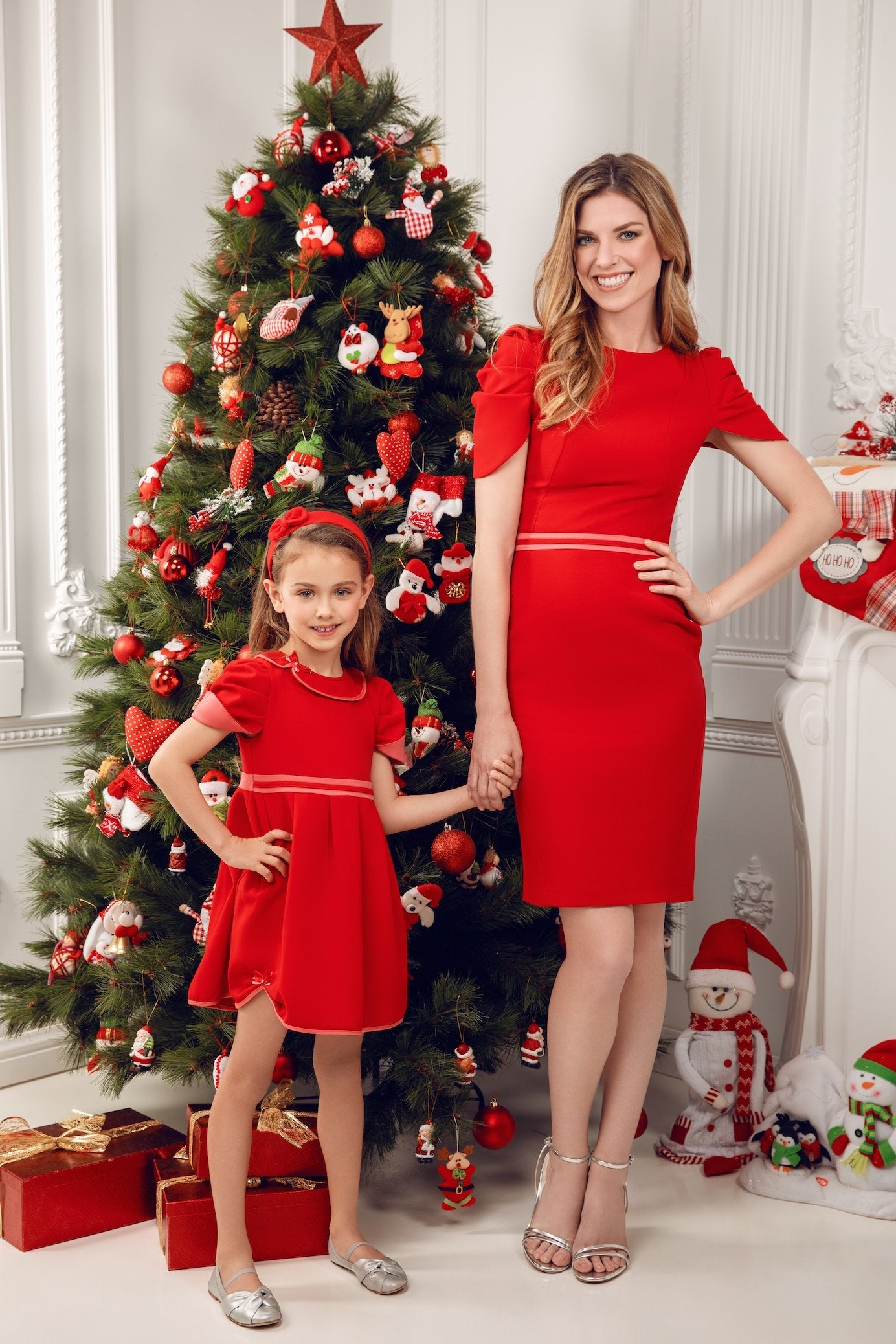 MATCHING SET CHRISTMAS LOOK mothers and daughters