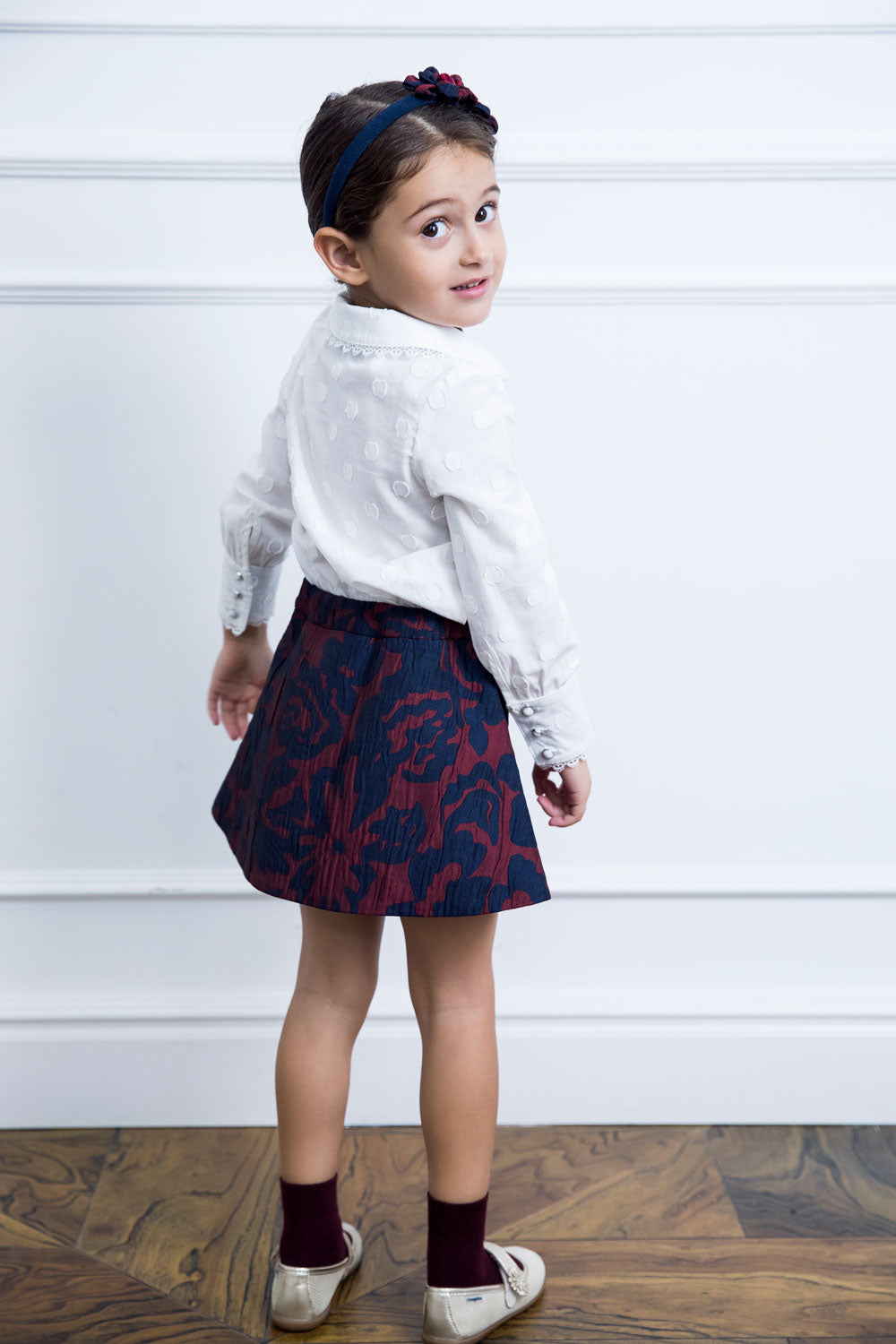 Flower Jacquard Mother and Daughter Matching Skirt Set