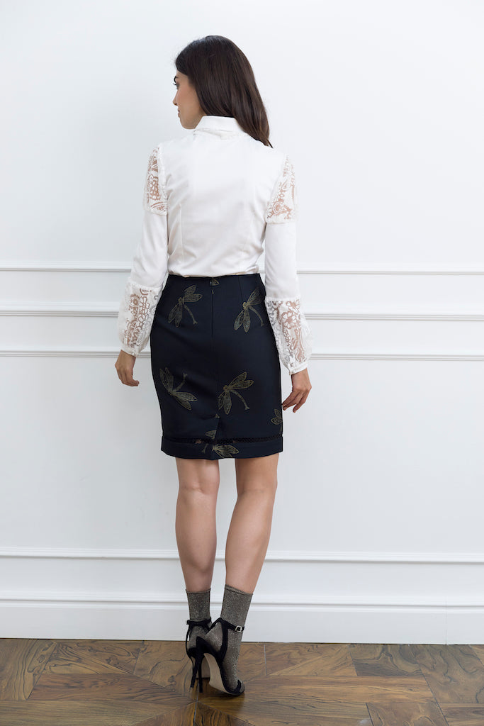 Black Pencil Woman Skirt