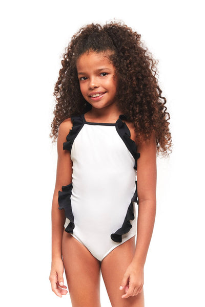 Black Pearl One Piece Girl Swimwear