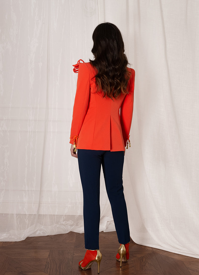 Orange Woman Blazer