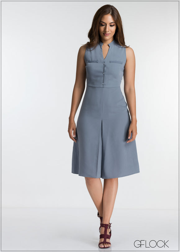 Front Pocket Detailed Workwear Dress