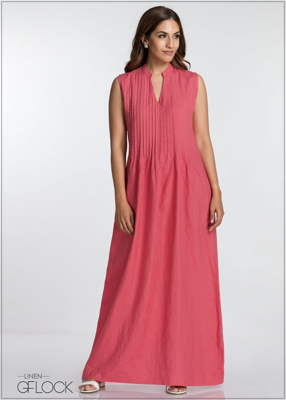 Pin Tucked Maxi - GFLOCK.LK