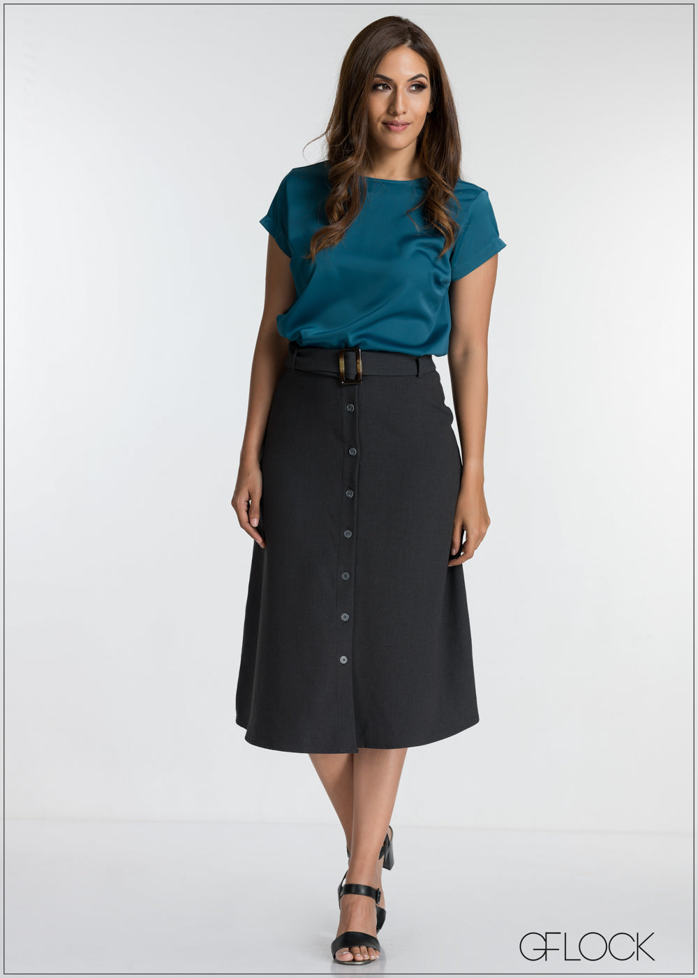 Buttoned Down Skirt