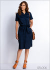 Pocket Detailed Shift Dress