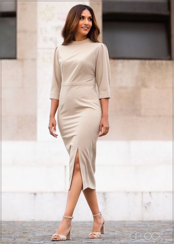 Dress with Slit Detail