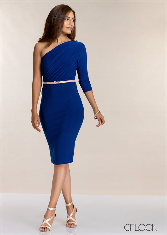 One Shoulder Evening Dress - GFLOCK.LK