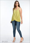 Twisted Front With Grommets Skinny Top
