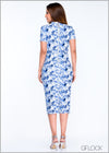 Printed Body-Con Dress