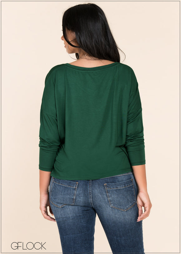 V Neck Loose top - GFLOCK.LK