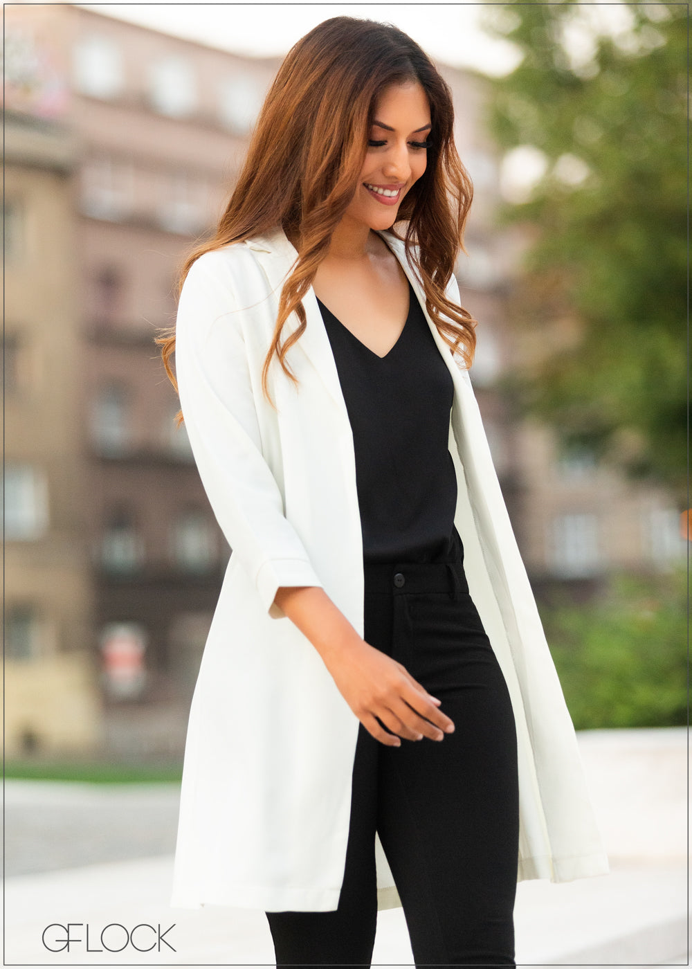 Collared Long Cardigan