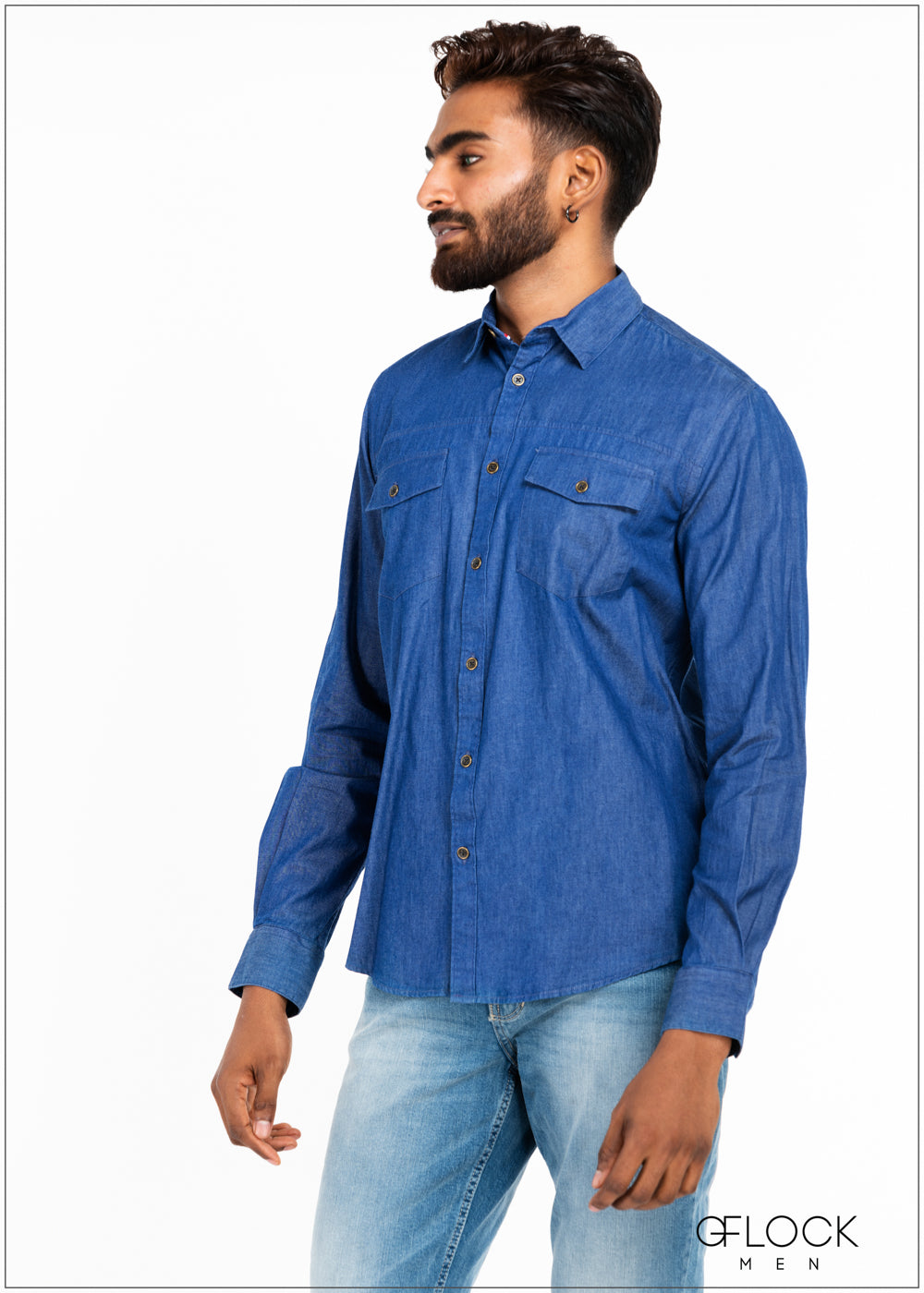 Double Pockect Chambray Shirt