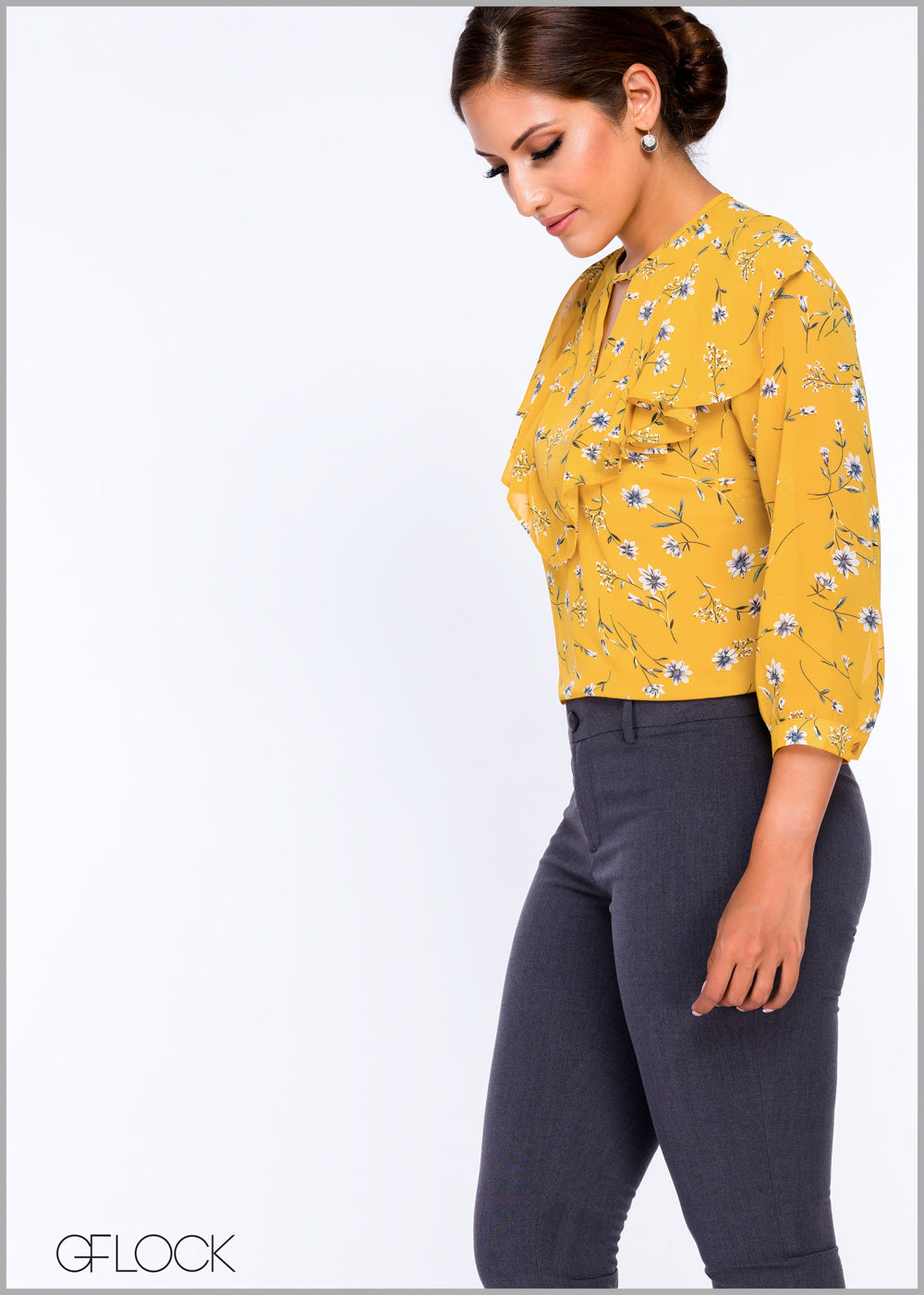 Floral Printed Workwear Top