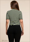 Striped Print Top - GFLOCK.LK