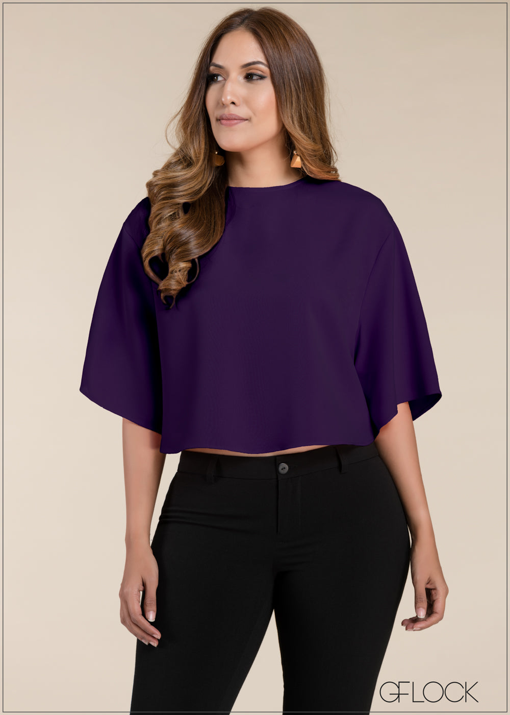 Drop Shoulder Cape Top
