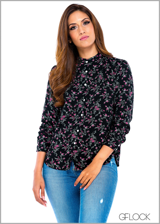 Printed Three Quarter Sleeve Top