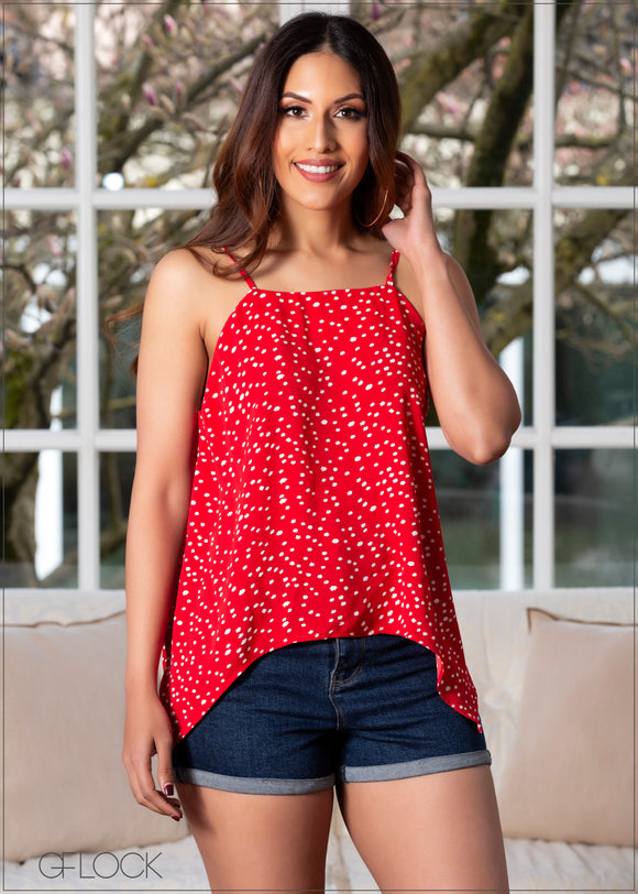 Cami Top with Asymmetric Hem - 360