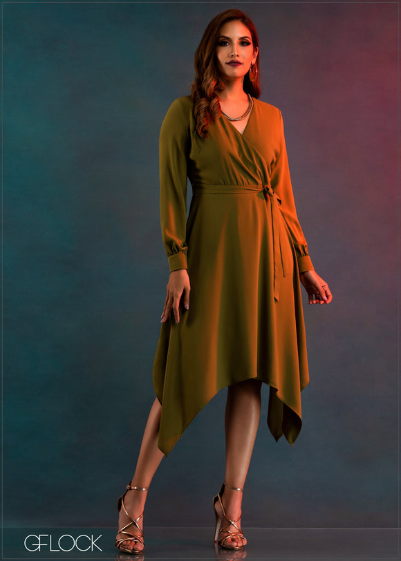 Asymmetric Hem Dress - GFLOCK.LK