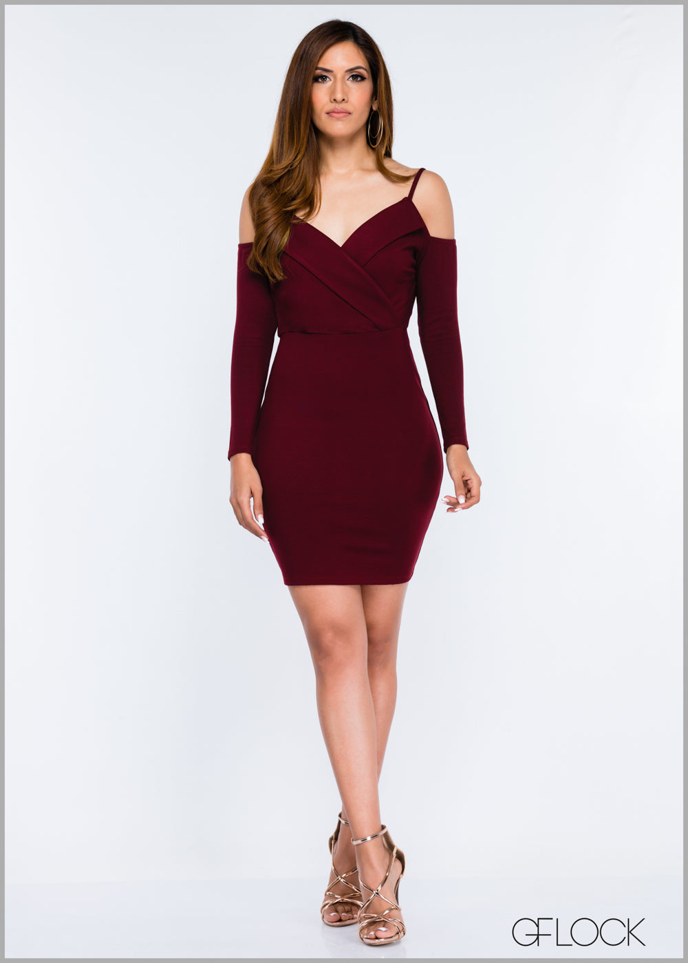 Front Collar Detailed Body-Con Dress