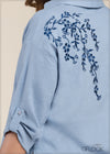 Back Embroidered Linen Top