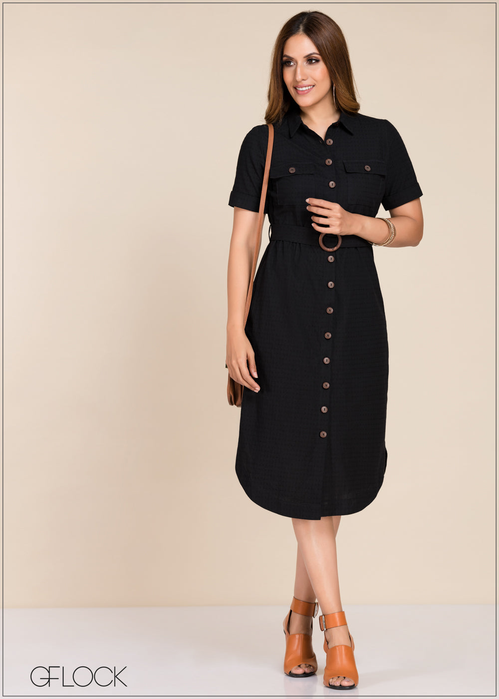Waist Belted Dress - GFLOCK.LK