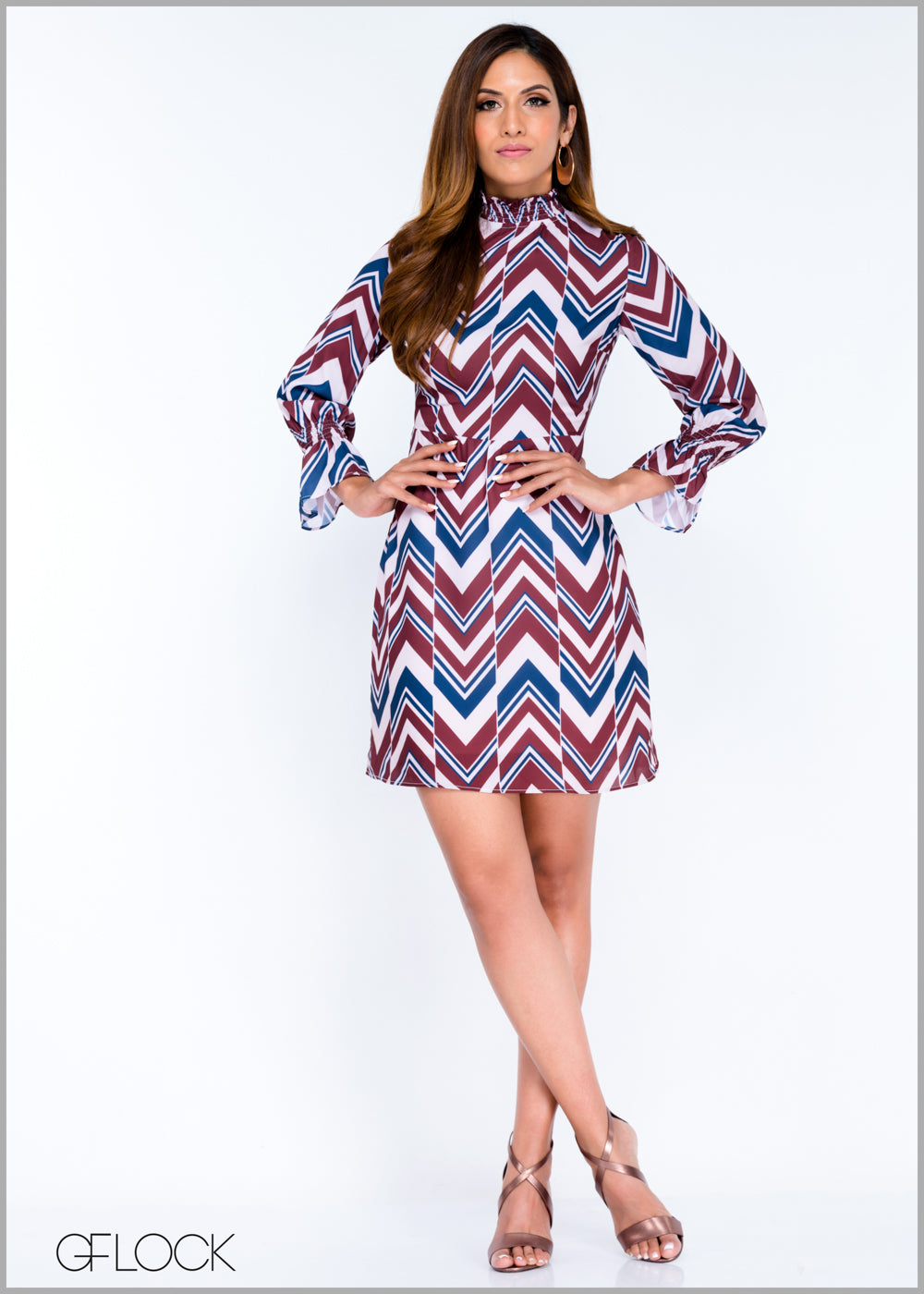 Smocked Printed Dress