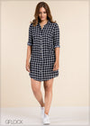Checked Shirt Dress - GFLOCK.LK