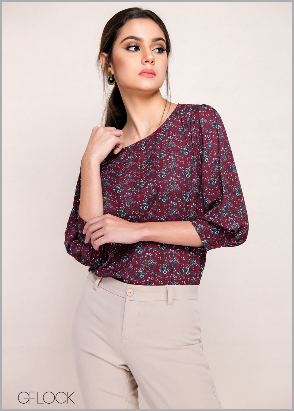 Formal Floral Workwear Top