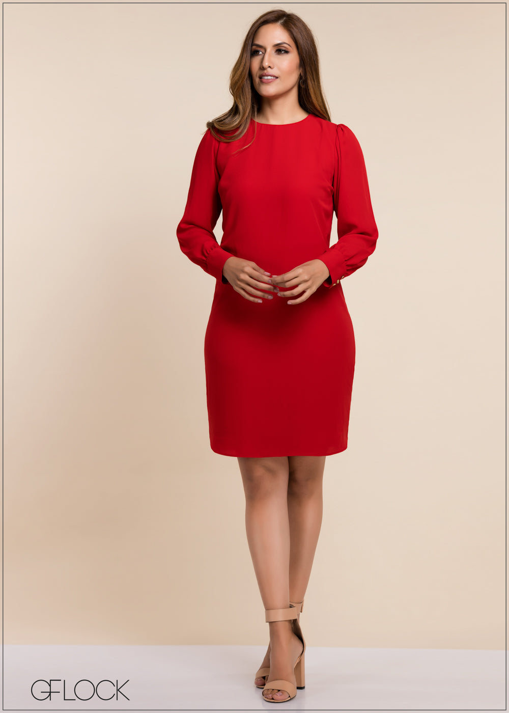 Long Sleeve Workwear Dress - GFLOCK.LK