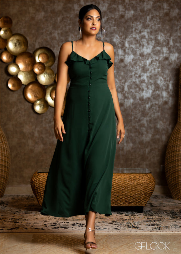 Front Buttoned Maxi