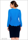 Long Sleeve Peplum Workwear Top