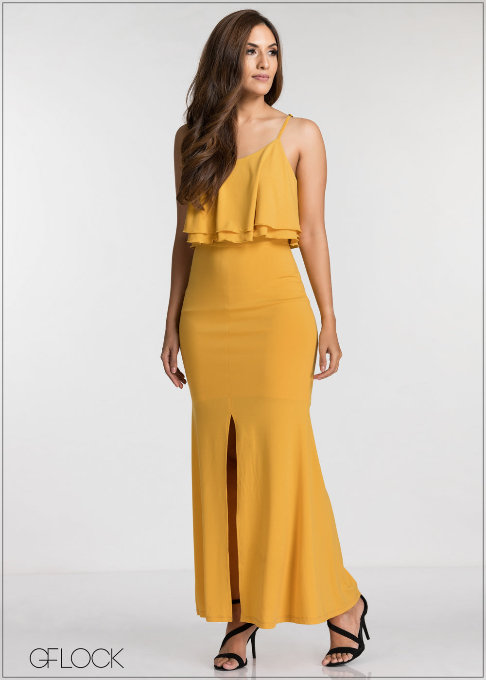 Front Slit Detailed Evening Dress - GFLOCK.LK