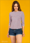 Striped Knit Top - GFLOCK.LK