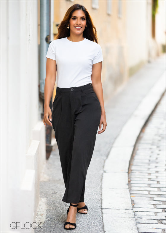 High Waisted Flared Pant