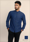 Chinese Collar Long Sleeve Shirt