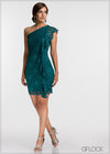 One Shoulder Lace Dress - GFLOCK.LK