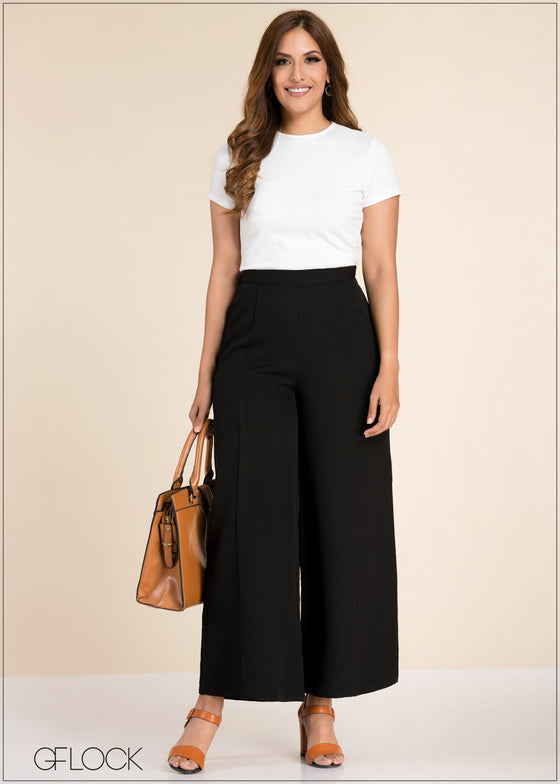 Seam Detailed Flared Pant