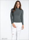 Long Sleeve High Neck Top - GFLOCK.LK