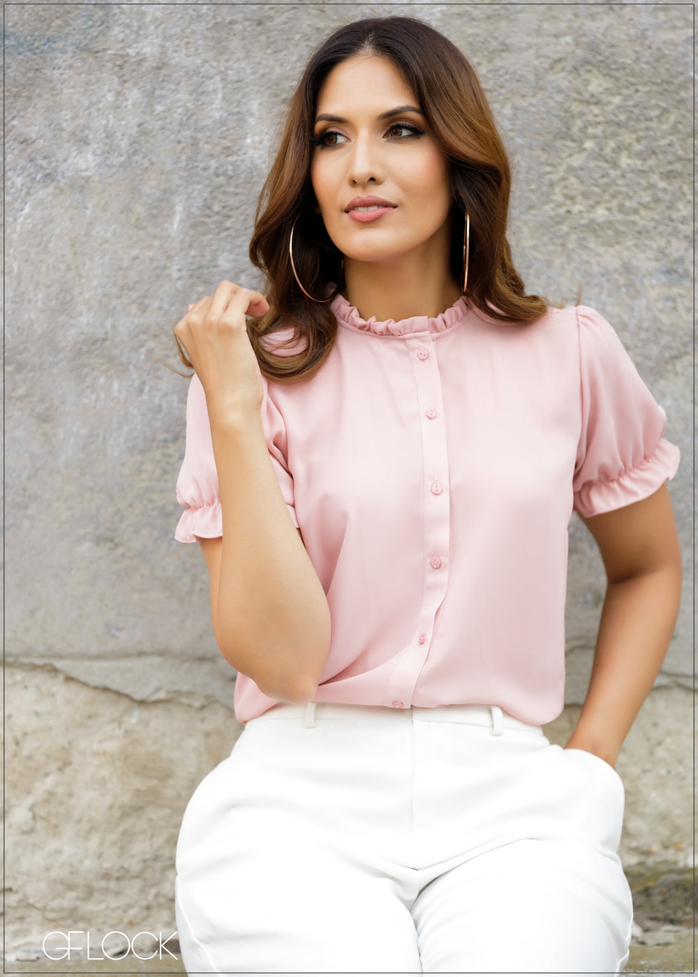 Ruffle Detailed Workwear Top