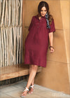 Linen Shift Dress - GFLOCK.LK