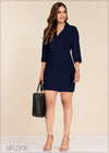 Front Pocket Detailed Blazer Dress - GFLOCK.LK