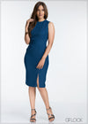 Front Slit Detailed Dress - GFLOCK.LK
