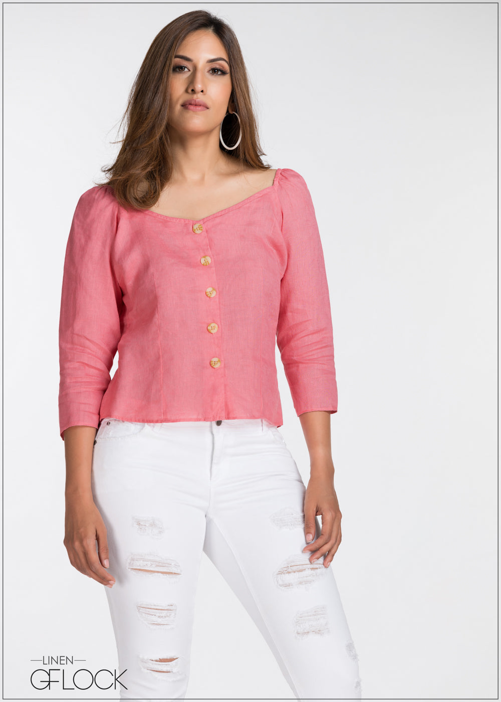 Button Up Linen Top