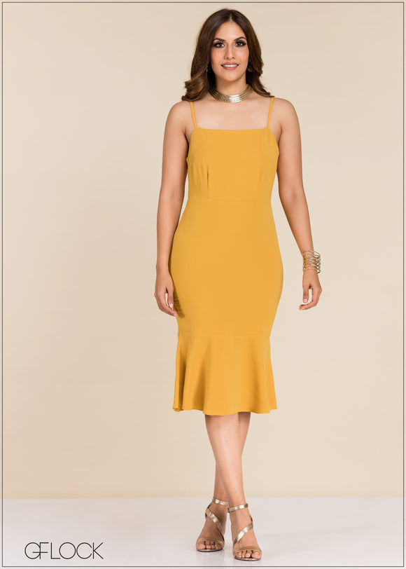 Trumpet Hem Dress - GFLOCK.LK