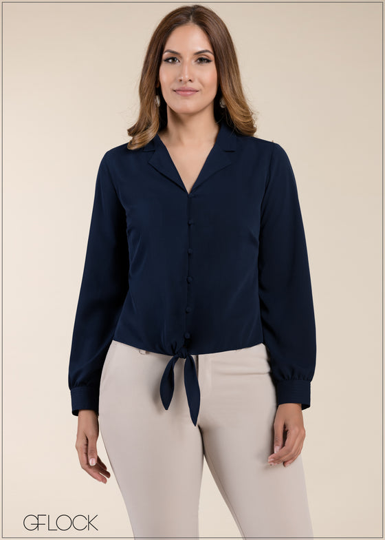 Lapel Collared Top