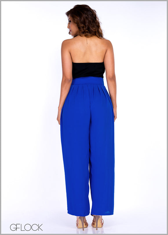 Pleated Plazo Pant