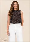 Heart Printed Sleeveless Top - GFLOCK.LK