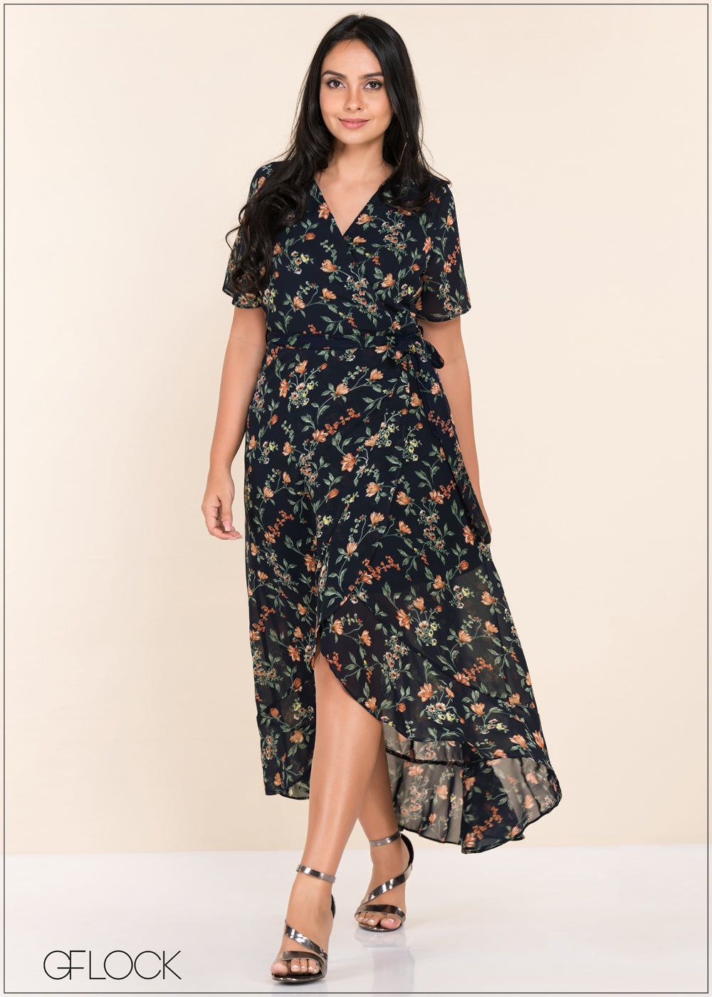 High Low Wrap Dress - GFLOCK.LK