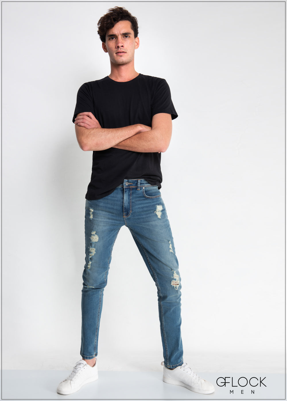Slim Fit Light Washed Ripped Jean - MD0224